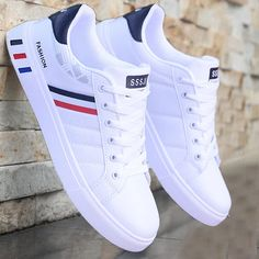 😍 Mikarause White Casual Shoes Men Leather Sneakers Male Comfort Sport Running Sneaker Man Tenis mocassin Fashion Breathable Shoes 😍 by Felligo starting. Mens White Casual Shoes, Men Casual, White Sneakers For Men, Leather Sneakers, Leather Men, Leather Jackets, Pink Leather, Moda Sneakers, Latest Sneakers
