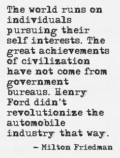 Milton Friedman Car Quote
