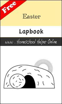 Easter Lapbook - This free Easter Lapbook includes a variety of lessons and mini books to cover from Palm Sunday to Easter Sunday.