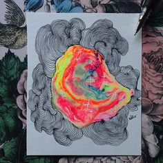 Glow in the dark paint doodle! Framed | WEBSTA - Instagram Analytics