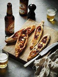 Prawn, feta and basturma pide #recipe