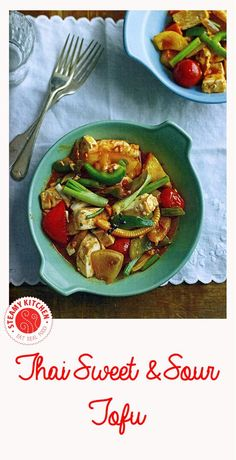 Thai Sweet-and-Sour Tofu from Rosa's Thai Cafe: The Cookbook by Saiphin Moore featured on SteamyKitchen.com ~ http://steamykitchen.com