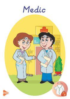 Ilustrații cu meserii și ocupații Teaching Weather, Experiment, Preschool Education, Teaching Materials, Montessori, Kindergarten, Family Guy, Medical, Teacher