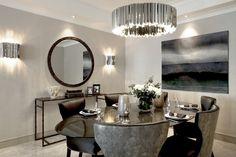 FACET in Private Residence in Hans Cresent, by Laura Hammett Ltd, Knightsbridge, London, UK  http://www.innermost.net/wp/facet-chandelier