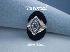 Tutorial Silver Blue Ring Think I'll order the pattern and make this one.
