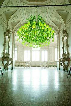 The most beautiful chandelier that I have ever seen in all my days of existence!  I'm green with envy!