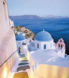 La luz mas bonita del mundo es la que se ve desde Santorini