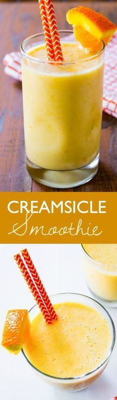 This creamy, healthy 5 ingredient smoothie tastes like an orange julius and a creamsicle pop combined. Vitamin C has never tasted so good!