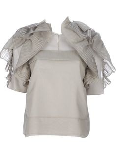 CHLOE pleated ruffle blouse by farfetch