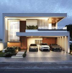Modern Small House Design, Modern Exterior House Designs, Modern House Facades, Bungalow House Design, Modern Architecture House, Modern House Plans, Architecture Design, House Outside Design, House Front Design