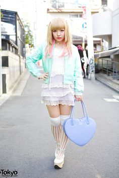 Street Style: Tokyo Fashion Week Fall 2014 - Vogue Daily - Fashion and Beauty News and Features - Vogue Japanese Street Fashion, Tokyo Fashion, Harajuku Fashion, Kawaii Fashion, Lolita Fashion, Korean Fashion, Fashion Outfits, Womens Fashion, Harajuku Style