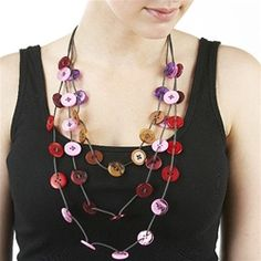 Button Necklace