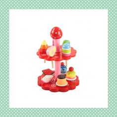 Leuke rode etagère om het theepartijtje helemaal af te maken! Met genoeg lolly's, taartjes en stukjes fruit voor iedereen die aanschuift. http://dekinderkookshop.nl/product/etagere-rood/