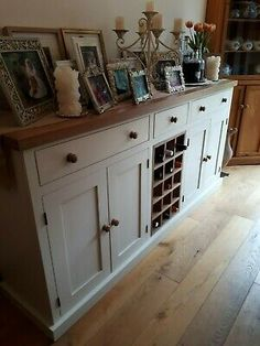 Sideboard With Wine Rack, Retro Sideboard, Painted Sideboard, Shabby Chic Cabinet, Shabby Chic Decor, Open Plan Kitchen Living Room, Dining Room, Drawer Table, Buffet Cabinet
