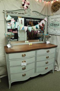 Hand Painted Hepplewhite Dresser With Mirror At Homestead Handcrafts, San  Antonio, Texas. Dresser With MirrorFurniture RefinishingHomesteadsSan ...