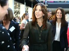 Crown Princess Mary, patron, attended a Maternity Foundation event, April 29, 2014