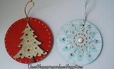 Old CD's + my Cricut = Christmas Ornaments