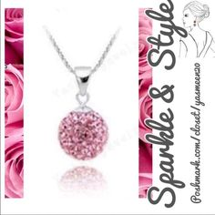 Pink Sterling Silver Necklace