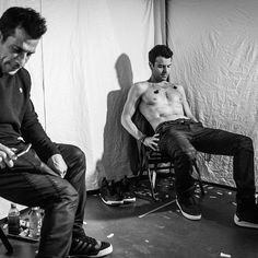 Taking a breather under the stage.. #themainevent #NKOTB #dannywood #jordanknight