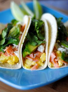 YUM!  smoked salmon breakfast tacos | fatgirltrappedinaskinnybody.com