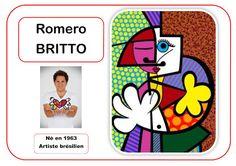 Romero Britto - Portrait d& en MS - Art Montessori, Montessori Elementary, Art Worksheets, Ecole Art, Social Art, Meet The Artist, Teaching Art, Teaching Reading, Art Plastique