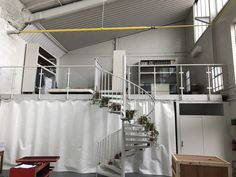 Stainless steel balustrade powder coated matt to blend in with its surrounds rather than stand out as bright stainless Stainless Steel Balustrade, Powder Coating, Loft, Bright, Bed, Projects, Furniture, Home Decor, Lofts