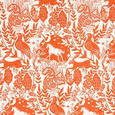 Woodland Fabric by Clarke and Clarke, Westonbirt Spice, Cotton Fabric for Upholstery & Curtains, Cushions, Roman Blinds, Craft Projects Clarke And Clarke Fabric, Woodland Fabric, Roman Blinds, Christmas Wrapping, Woodland Animals, Cool Patterns, Soft Furnishings, Pet Birds, Floral Arrangements