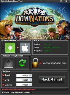 DomiNations Hack Cheats Tool  DomiNations Hack is Modhacks.com a new tool, that we all want to present to you. If you ever glimpse at all the other hacks on line, this amazing tool is the most effective. This specific tool was made to be functioning on Android os and iOS devices. That includes iPhones, …