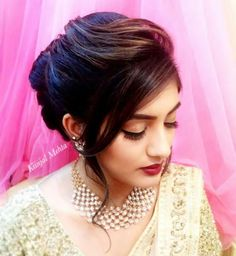 24 Best Ideas For Wedding Hairstyles Elegant Updo Messy Buns Engagement Hairstyles, Side Bun Hairstyles, Indian Wedding Hairstyles, Braided Hairstyles Tutorials, Elegant Hairstyles, Bride Hairstyles, Hairstyles Haircuts, Bridal Hair Buns, Bridal Hairdo