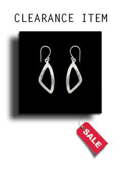 Silver Plain Drop Earrings - BP0028
