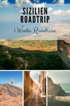Sicily Tour - This road trip will be your best vacation of the year - Turquoise-blue water on the golden sandy beach, ancient Greek temples and an impressive active volc - Florida Travel, Travel Usa, Hotel Am Meer, Sicily Tours, Places To Travel, Travel Destinations, Surfing Pictures, Mountain Vacations, High Road