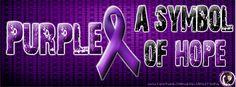 Purple- A symbol of Hope. FB cover photo.
