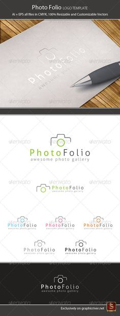 Photo Folio Logo Template — Vector EPS #image #showcase • Available here → https://graphicriver.net/item/photo-folio-logo-template/1286936?ref=pxcr