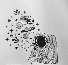 35 Cool Easy Whimsical Drawing Ideas Things to Draw – Galaxy Art Galaxy Drawings, Space Drawings, Cool Art Drawings, Pencil Art Drawings, Art Drawings Sketches, Drawing Ideas, Drawing Skills, Cute Drawings Tumblr, Indie Drawings