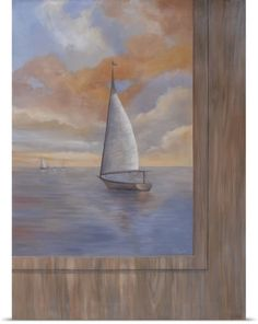 Vivien Rhyan Poster Print Wall Art Print entitled Sailing at Sunset II, None