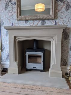 Elizabethan / Tudor style Yorkstone fireplace www.tomlinsonstonecraft.co.uk Natural Stone Fireplaces, Peace And Harmony, Tudor Style, Cambridge, Natural Stones, Hand Carved, This Is Us, Home Decor, Decoration Home
