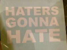 Taylor Swift inspired Haters Gonna Hate Car/locker/laptop vinyl decal.