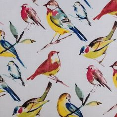 Hertex Fabrics is s fabric supplier of fabrics for upholstery and interior design Tufted Bench, Upholstered Storage Bench, Upholstered Arm Chair, Armchair, Hertex Fabrics, Pretty Animals, Cool Fabric, Home Decor Fabric, Bird Prints