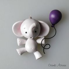 DIY Cute Elephant with Balloon Polymer Clay Step-by-Step Tutorial