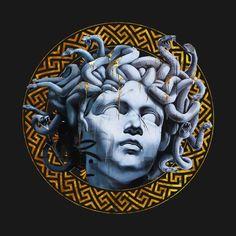 Check out this awesome 'Medusa+head' design on Medusa Art, Medusa Tattoo, Medusa Head, Monalisa Wallpaper, Vaporwave Wallpaper, Graphic Design Books, Dark Art Drawings, Greek Art, Dark Wallpaper