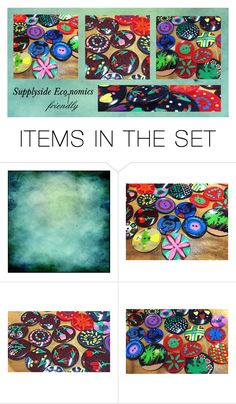 #Vintage Hand Painted Buttons by rescuedofferings on Polyvore featuring art and vintage Crafter' Paradise!
