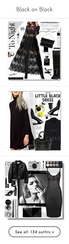 """Black on Black"" by yours-styling-best-friend ❤ liked on Polyvore featuring black, blackonblack, Nicole, Chantecaille, Dansk, women's clothing, women's fashion, women, female and woman"