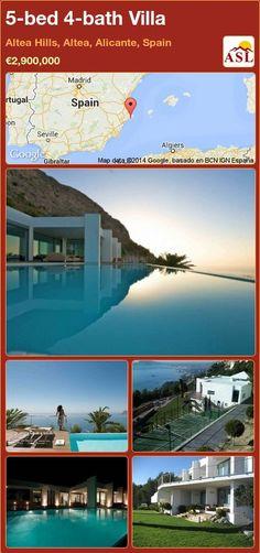 5-bed 4-bath Villa in Altea Hills, Altea, Alicante, Spain ►€2,900,000 #PropertyForSaleInSpain