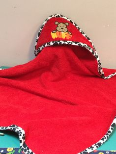 Hooded bath/swim towel for baby or toddler -- $20.00
