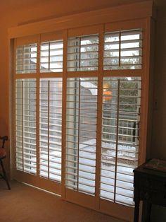 plantation shutters on sliding doors