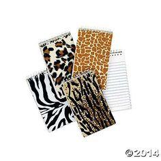 Plush Animal Print Spiral Notepads
