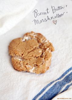 Peanut Butter & Marshmallow Cookie & Variations (use gluten free peanut butter)