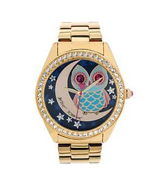 Betsey Johnson Owl & Moon Motif Dial Watch | Dillard's Mobile
