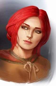 Triss Fan Art Thread – Page 218 – The Witcher Series The Witcher Books, The Witcher Game, Witcher 3 Wild Hunt, The Witcher Geralt, Witcher Art, Redhead Characters, Fantasy Characters, Cd Project Red, Girl Hair Drawing