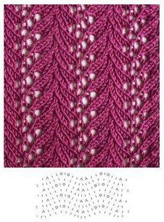 Lace knitting Knitting Stiches, Knitting Charts, Knitting Needles, Knitting Basics, Lace Knitting Patterns, Lace Patterns, Knitting Designs, Loom Knitting, Crochet Stitches